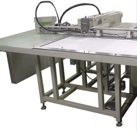 Werken met industrie naaimachine